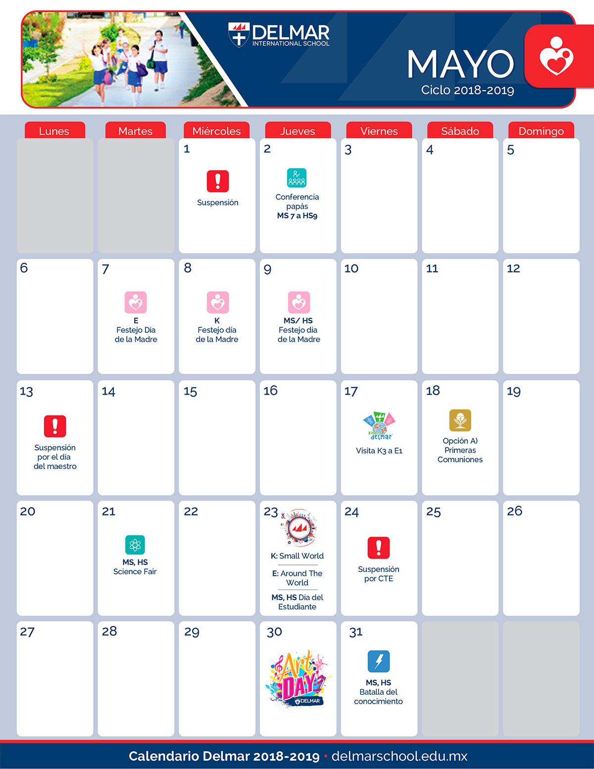 05 Calendario Delmar School