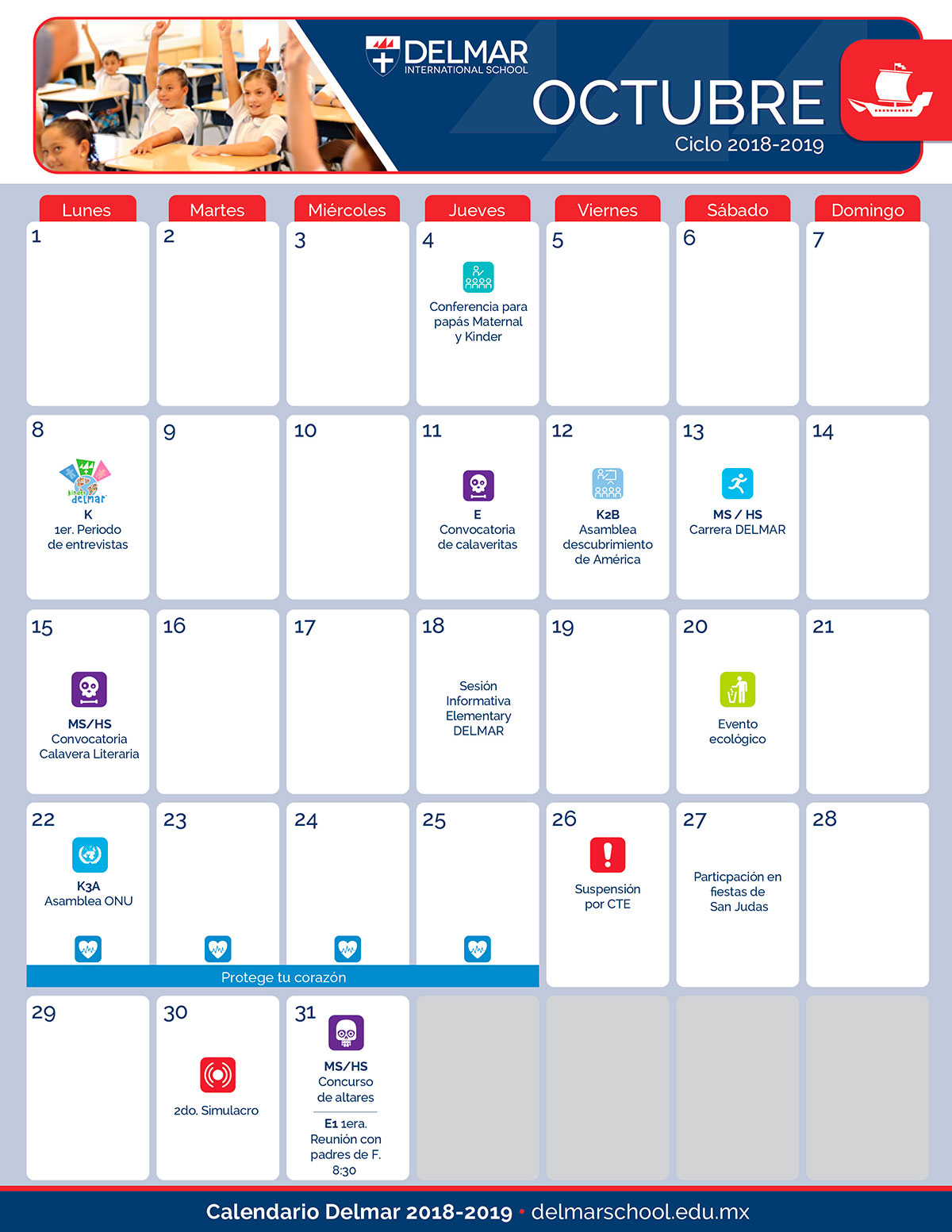 10 Calendario Delmar School